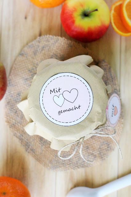 Etiketten für Marmelade als Freebie