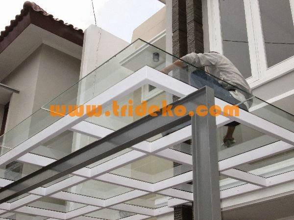 gambar kanopi bahan baja ringan partisi aluminium kaca, kaca frameless, ...