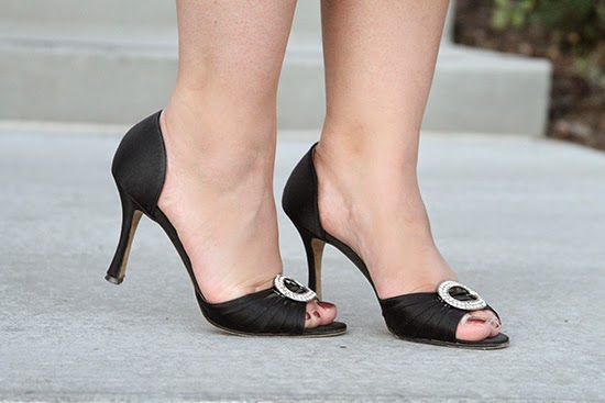 Manolo Blahnik Satin Black Sedaraby Heels