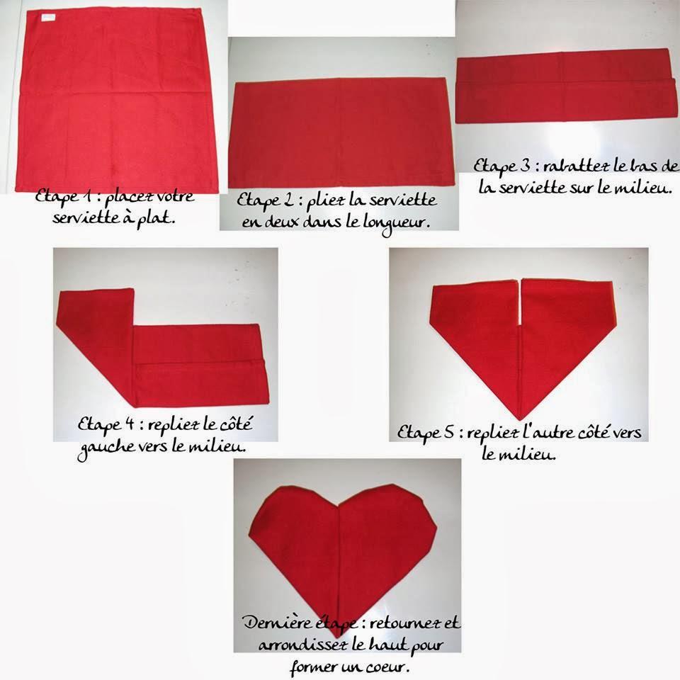 chab 39 blog le savez vous plier une serviette en forme de coeur. Black Bedroom Furniture Sets. Home Design Ideas
