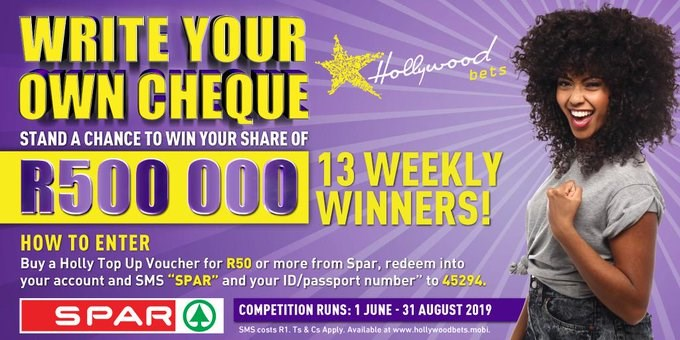 Write Your Own Cheque - Spar Promotion with Hollywoodbets