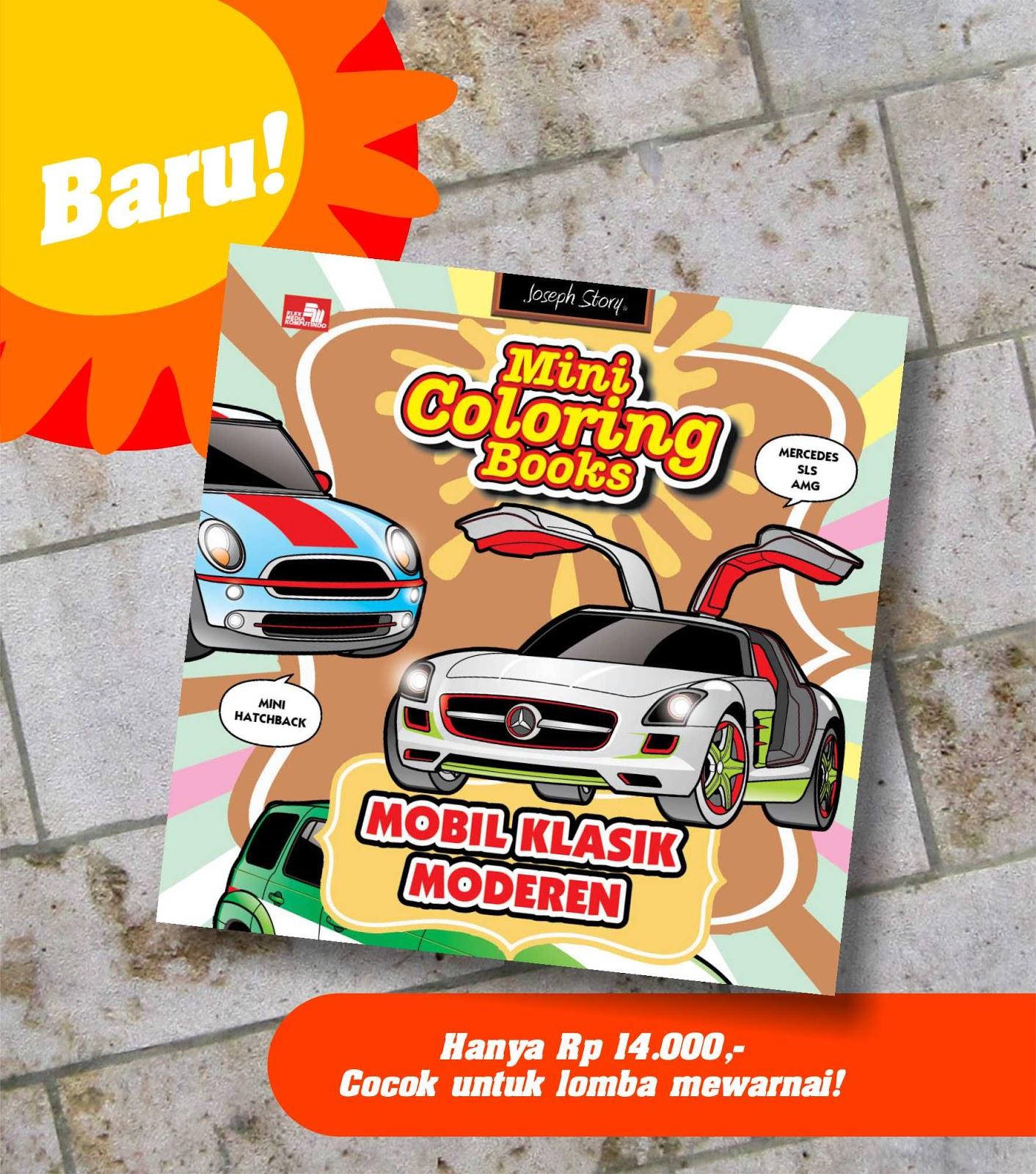 Mini Coloring Books Mobil Klasik Moderen Di Toko Buku Gramedia