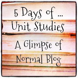 A Glimpse of Normal, 5 Days of Unit Studies, Blog Hop,  Homeschool Review Crew, hsreviews,