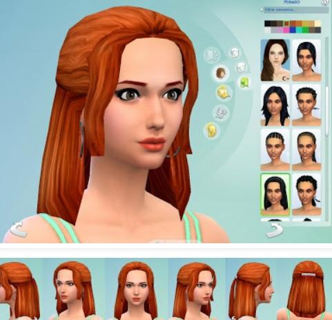 Fascinante mods sims 4 peinados Colección De Consejos De Color De Pelo - Videojuegos : La forma de jugar Los SIMS 4