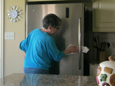 The Ultimate Cloth makes quick work of fingerprints on stainless steel refrigerators and other appliances.