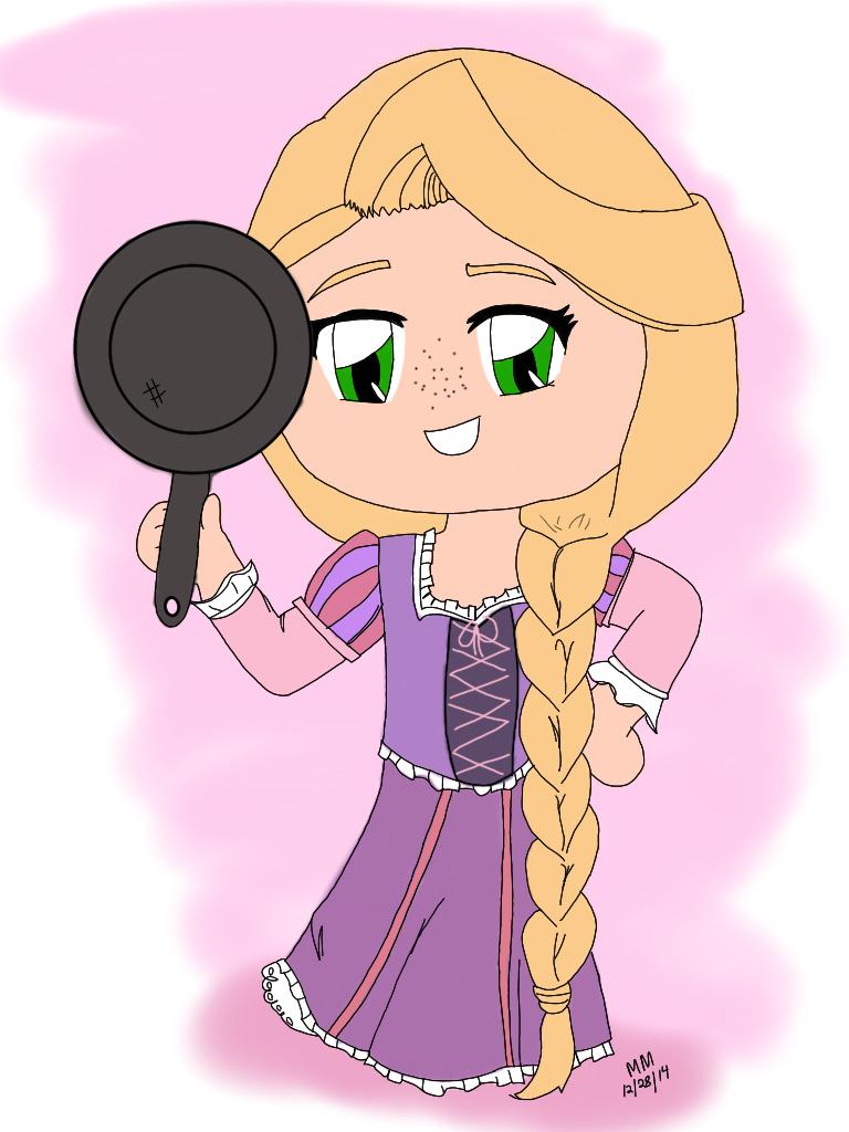 princess Rapunzel chibi công chúa tóc mây 6