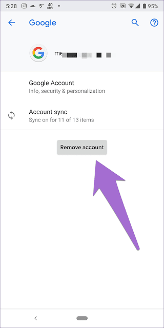 1 - إزالة حساب جوجل gmail في جهاز اندرويد - android