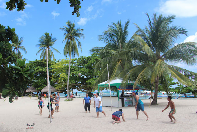 Beach volleyball in Cowrie Island, Puerto Princesa