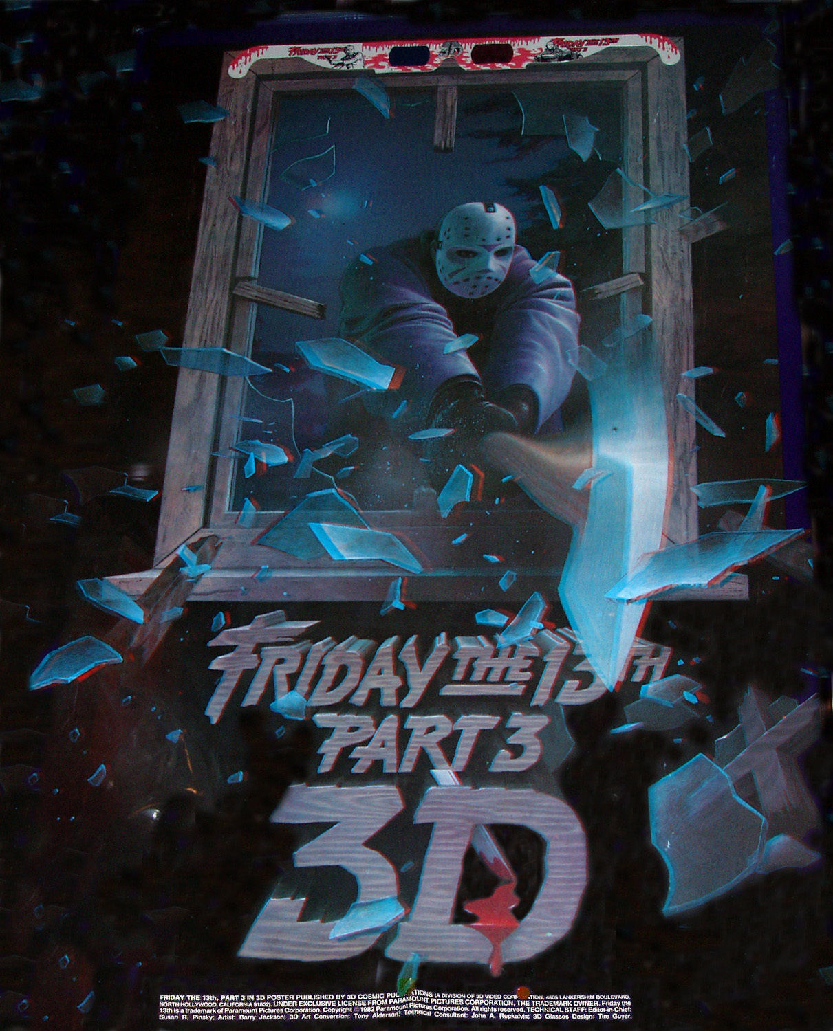 3 part poster design - You Can Purchase An Original Friday The 13th Part 3 Anaglyphic 3 D Poster