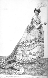 Engraving of the Princess of Wales  from La Belle Assemblée (1807)