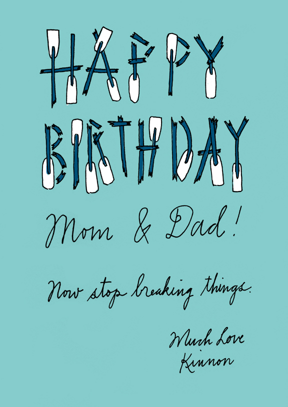 Kinnon Elliott Illustration Happy Birthdays Mom And Dad