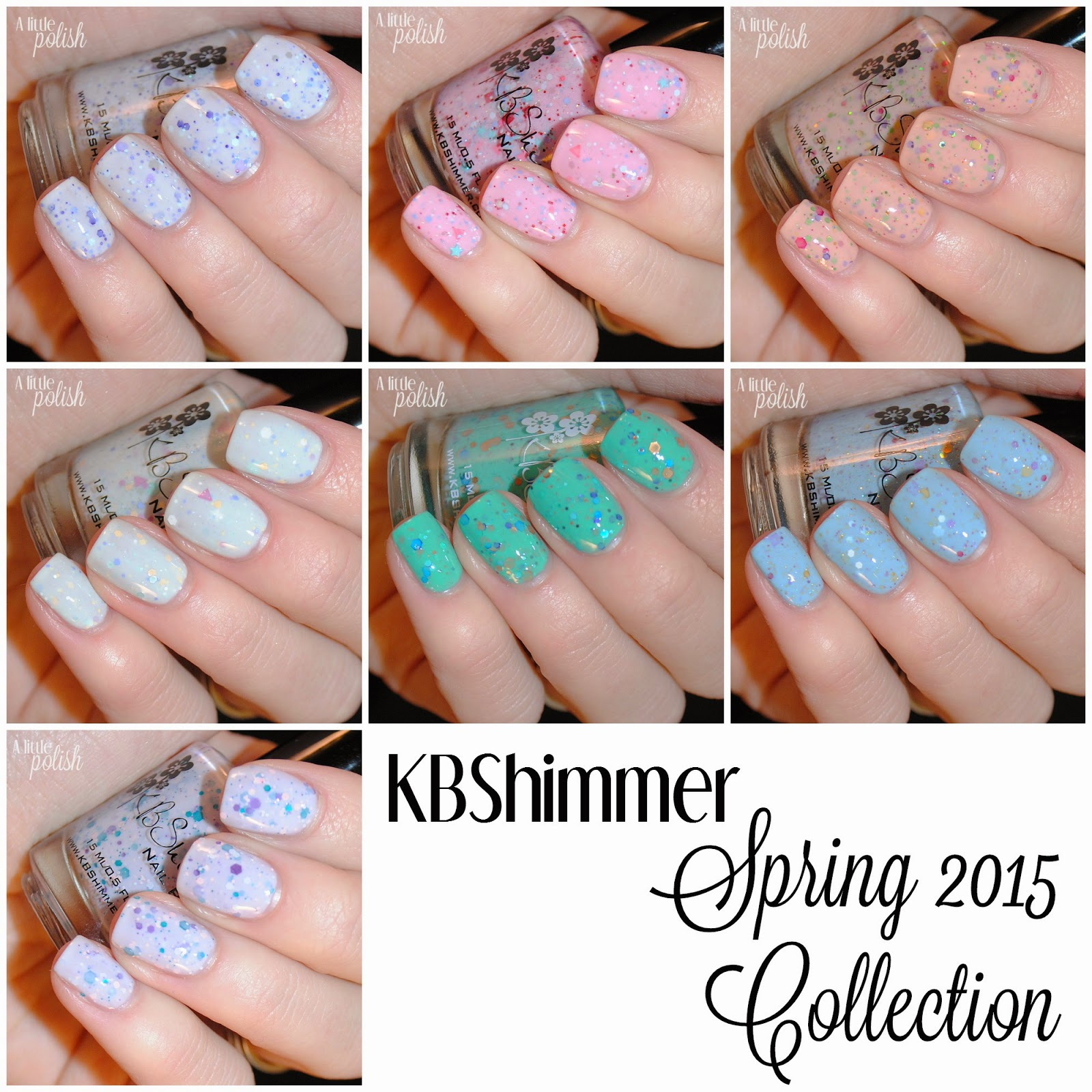 a little polish kbshimmer spring 2015 collection picture heavy