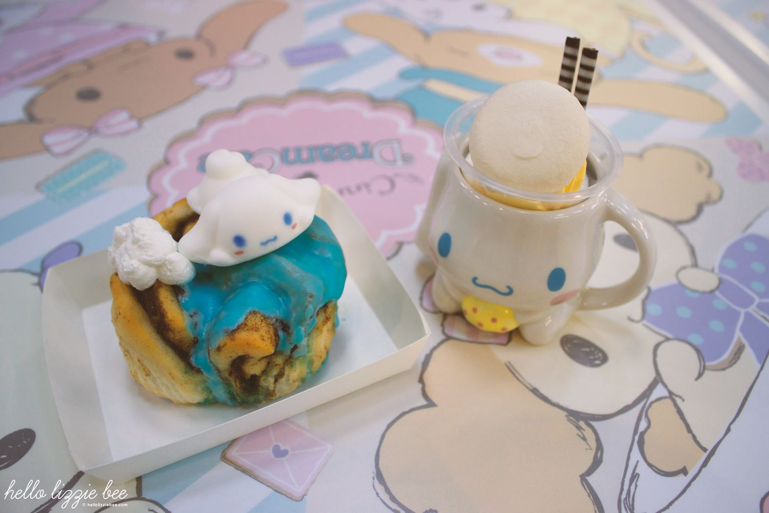 cinnamoroll dream cafe, dessert, kawaii