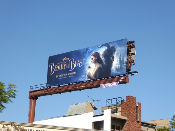 Disney Beauty and the Beast film billboard