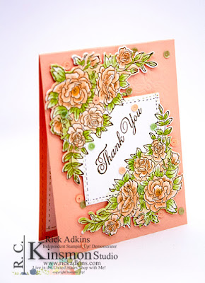 Climbing Roses Stamp Set, Stampin' Up!, Rick Adkins, Thank You Card