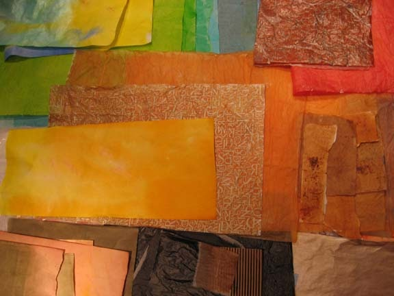Jo Reimer Painting Papers For Collage
