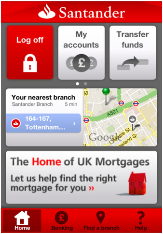 Santander 123 Credit Card App For iPhone