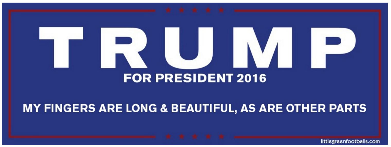 Trump Bumper Sticker Radical Centrist Trump Bumper Stickers So Many Messages To
