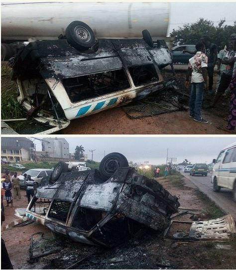 NURTW Officials Chase Driver of 18-seater Bus to Death in Ibadan (Photos)