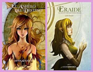portadas de la novela de fantasía ciberpunk El anhelo del destino, de Javier Bolado