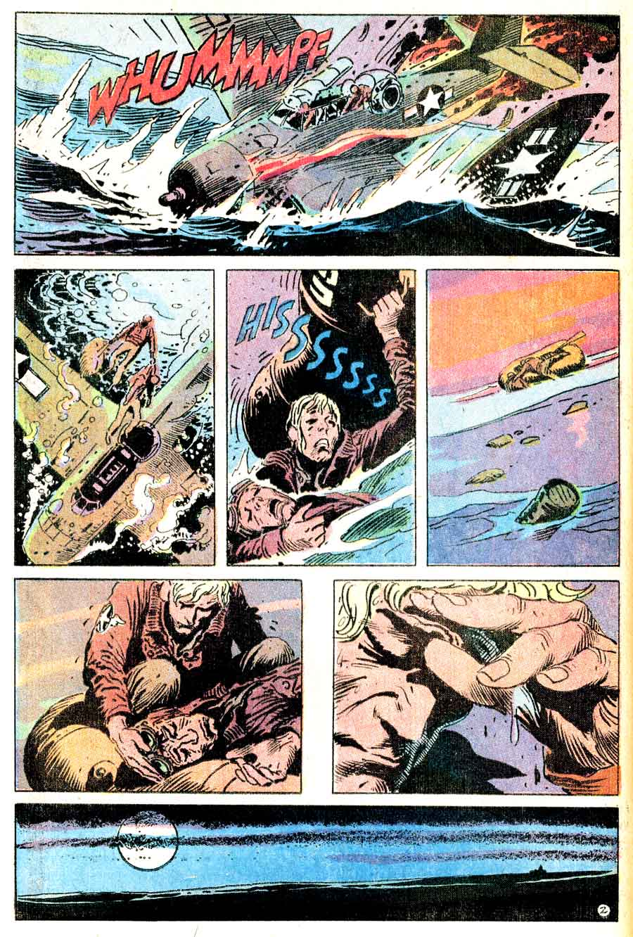 Weird War Tales v1 #3 dc bronze age comic book page art by Joe Kubert