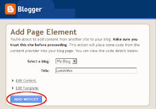 add widget to blogger blog