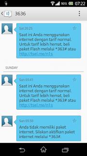 SMS 3636 Dari Telkomsel Yang Berisi Pemberitahuan Ternyata Menyedot Pulsa