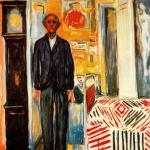 'Autoretrat: entre el llit i el rellotge (Edvard Munch)'