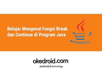 contoh pengertian pengenalan perbedaan Fungsi Break dan Continue di Program Java