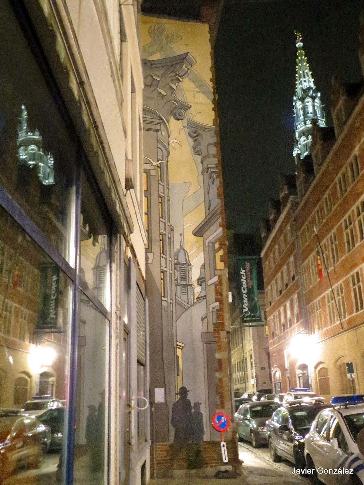 Trampantojo. Bruselas. Mural