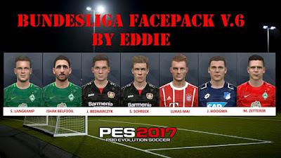 PES 2017 Facepack Bundesliga v6 by Eddie Facemaker