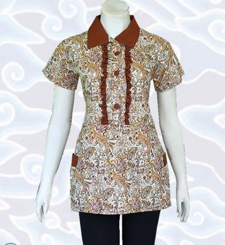 23 Contoh Model Baju Batik Atasan Terbaru 2020