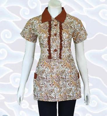 Contoh Model Baju Batik Atasan terbaru