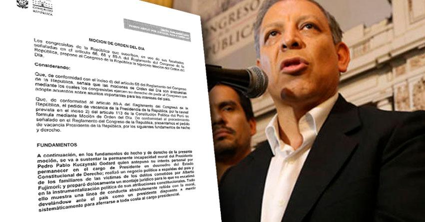 Congresistas de Frente Amplio presentan pedido de vacancia presidencial contra PPK
