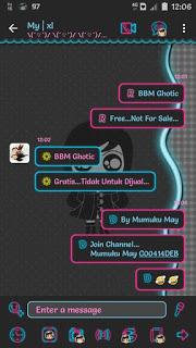 Download BBM Mod Gothic Theme versi 3.3.1.24 Apk terbaru For Android Update Clone & Unclone