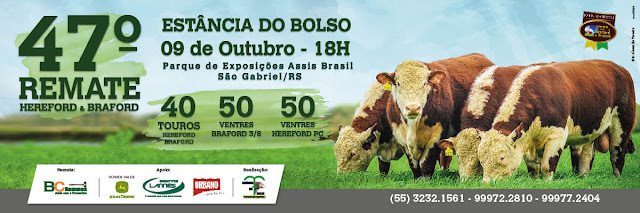 AGENDA BC REMATES - 47º Leilão Estância do Bolso - São Gabriel