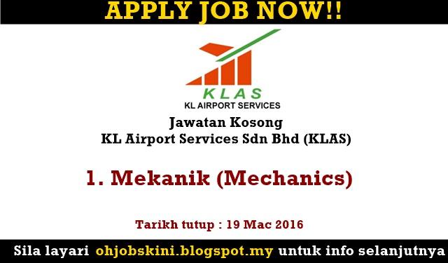 Jawatan Kosong KL Airport Services Sdn Bhd (KLAS)