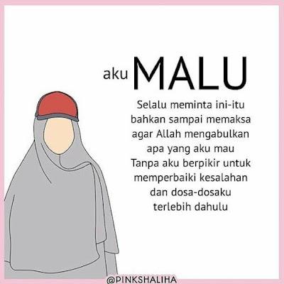 DP BBM Kartun Wanita Muslimah Bercadar