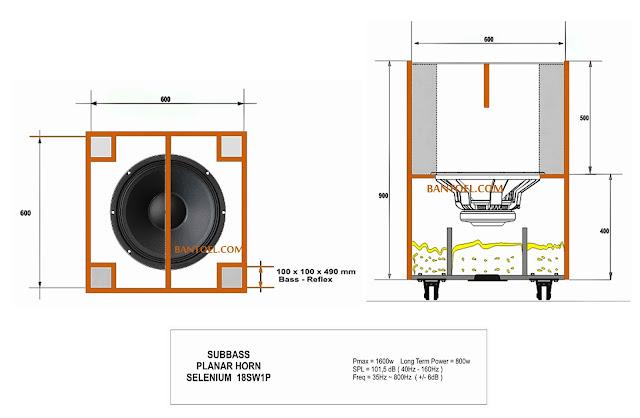 skema box speaker planar 18 inch