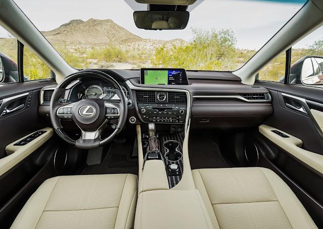 Interior view of 2019 Lexus RX450hL