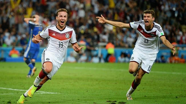 FIFA World Cup 2014 Results, 2014 FIFA World Cup, Germany Champion, Germany, Germany vs Argentina, Estadio Maracana Stadium, Rio de Janeiro, Brazil, victory moment, mario gotze, germany