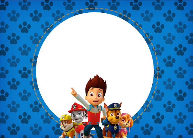 convite para Festa Patrulha Canina
