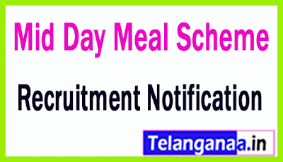 Mid Day Meal Scheme MDMS Recruitment