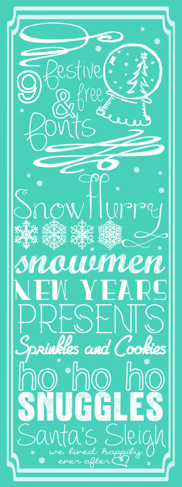 We Lived Happily Ever After: 9 Festive and Free Fonts for ...