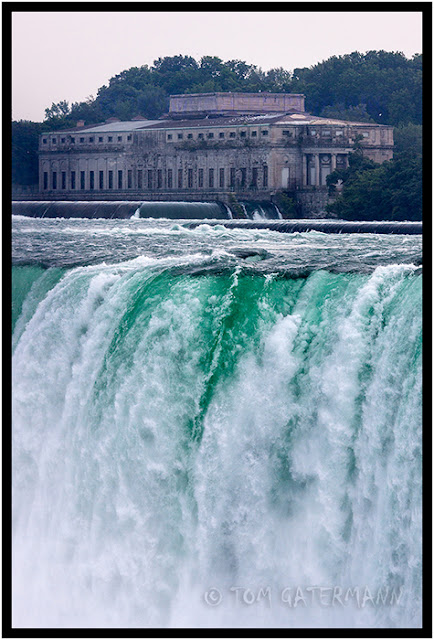 The old power house near the Horseshoe Falls, at Niagara Falls.