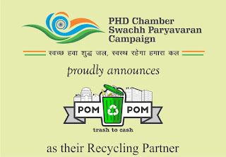 PHD Chamber Swachh Paryavaran Camapaign announces POM POM AS THE 'Recycling Partner'