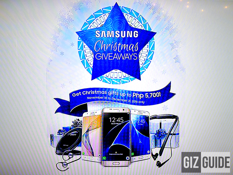Samsung Christmas Giveaways 2016 Announced, Get Up To PHP 5700 Freebies And Discounts!