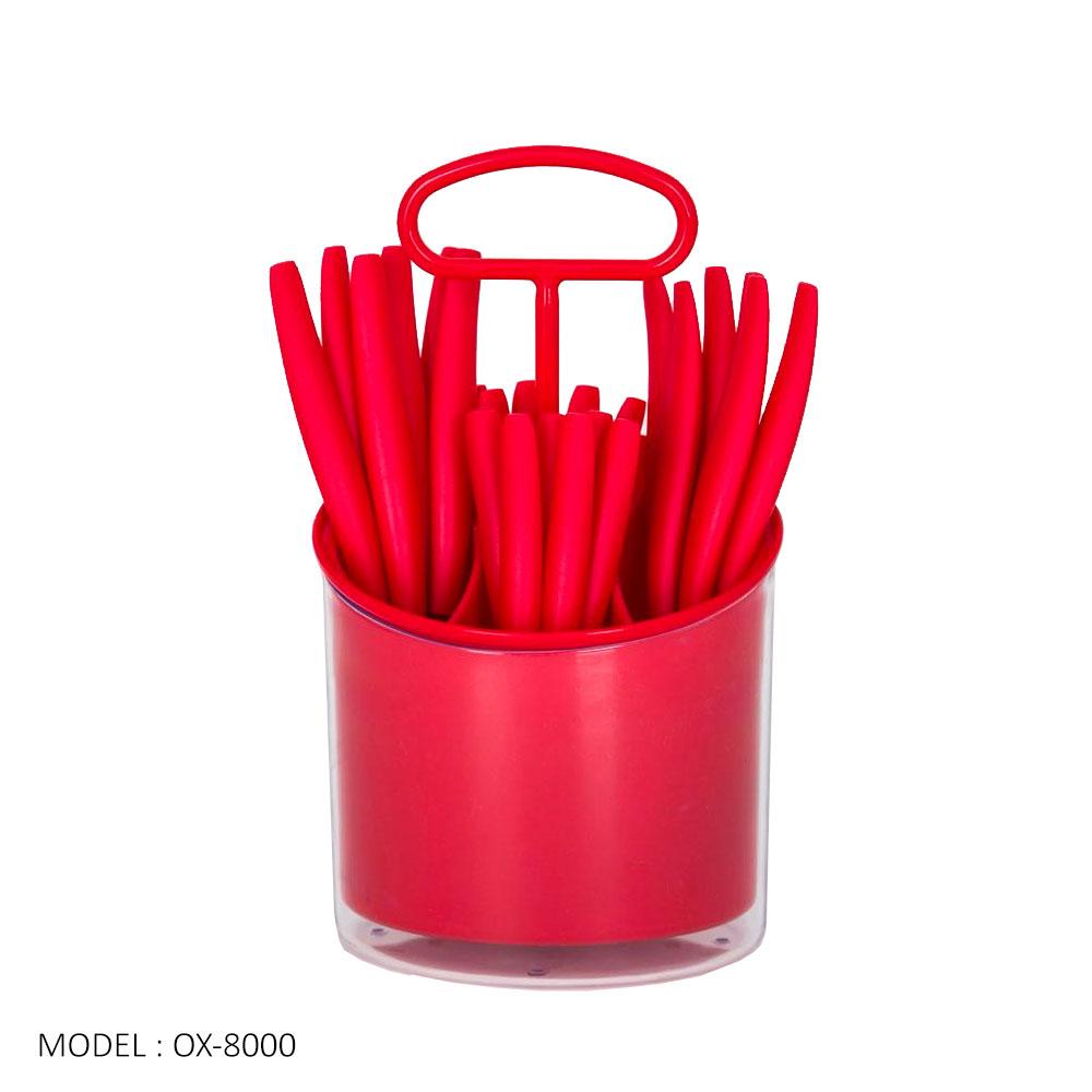 Oxone Shop Belanja Online Harga Reseller Grosir Travel Cookware Set Ox993 Ox 8000 24pcs Cutlery With Rack Sendok
