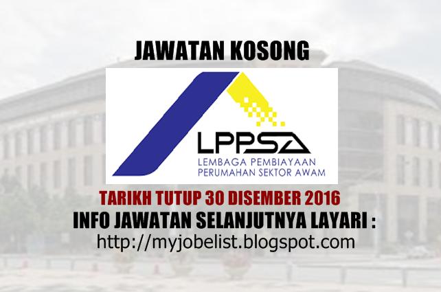 Jawatan Kosong di Lembaga Pembiayaan Perumahan Sektor Awam (LPPSA) 2016