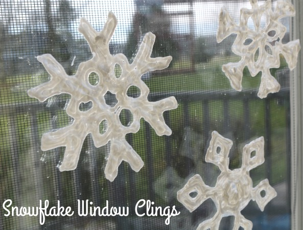 puffy paint snowflake craft for kids